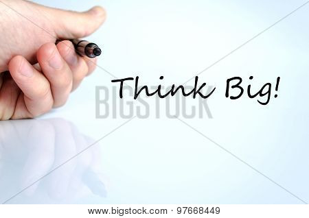 Think Big Hand Concept