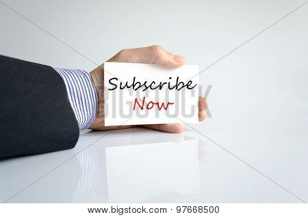 Subscribe Now Hand Concept