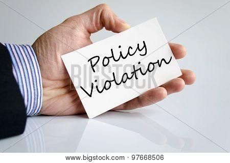 Policy Violation Hand Concept
