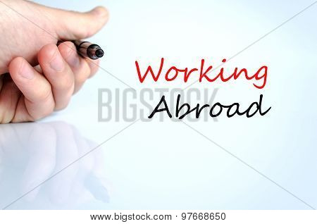 Working Abroad Text Concept