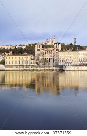 Fourviere Basilica On The Hill, Lyon, France