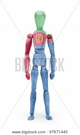 Wood Figure Mannequin With Flag Bodypaint - Eritrea