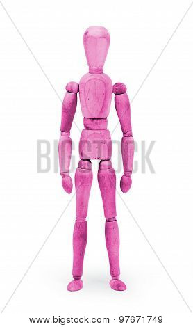 Wood Figure Mannequin With Bodypaint - Pink