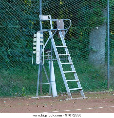 Old Tennis Umpire Chair