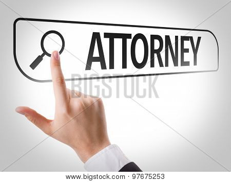 Attorney written in search bar on virtual screen