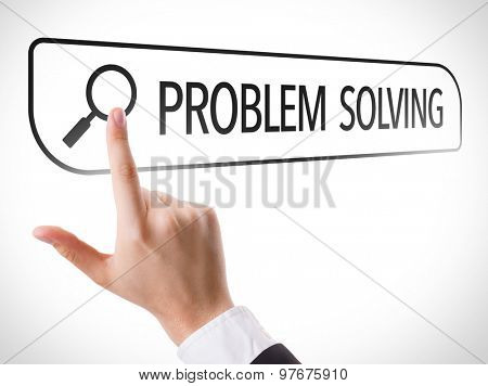 Problem Solving written in search bar on virtual screen
