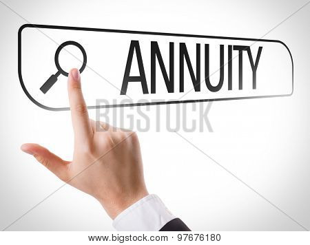 Annuity written in search bar on virtual screen