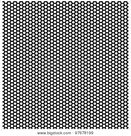 Seamless Pattern Of The Hexagonal Black Net