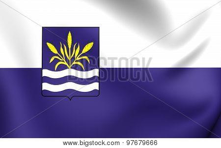 Flag Of Haarlemmermeer City, Netherlands.