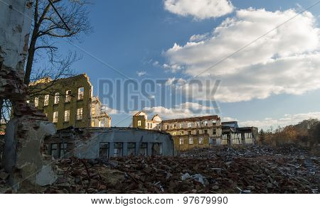The ruins of a textile factory