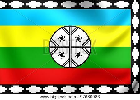 Mapuche Flag Of Nagche Territory