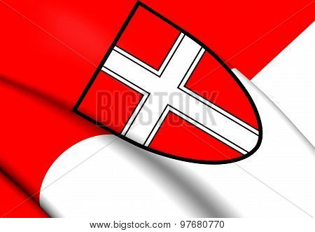 Flag Of Vienna, Austria.