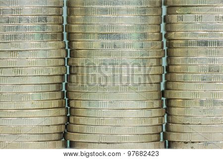 Coin Stack Seamless Texture - Coins In Columns
