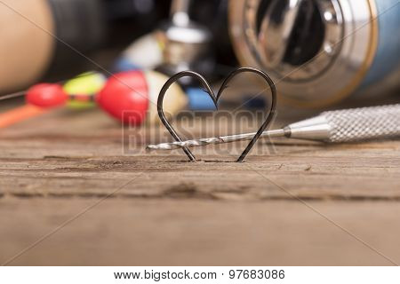 Heart Shaped Fishing Hooks