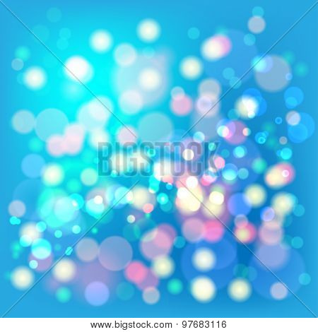 Lights Boke Blur Background. Illustration Vector EPS10.