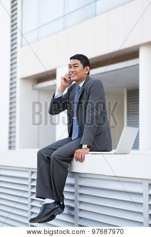 Optimistic Businessman