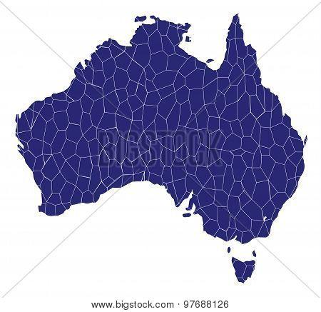 Australia Map Mosaic