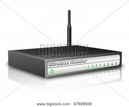 Wireless Router. Vector Illustration