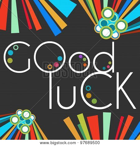 Good Luck Text Black Colorful Elements