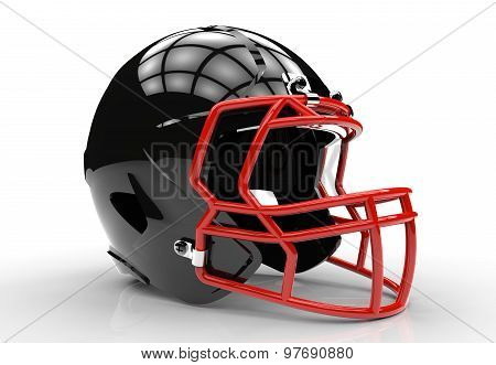 Black American Football Helmet