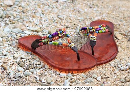 Slippers On The Sand