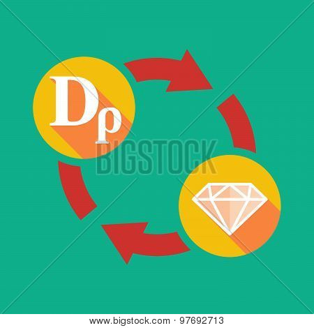 Exchange Sign With A Drachma Sign And A Diamond