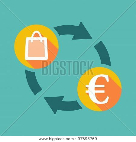 Exchange Sign With A Shopping Bag And An Euro Sign