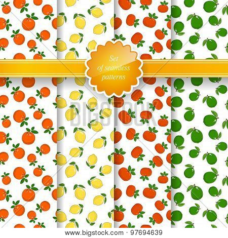 Seamless Pattern with Fruit Background