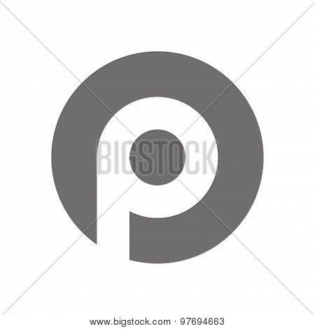 Letter P Logo Concept Icon. Vector