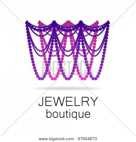 Jewelry - template logo for jewelry salon, manufacture of jewelry, brand jewelry.