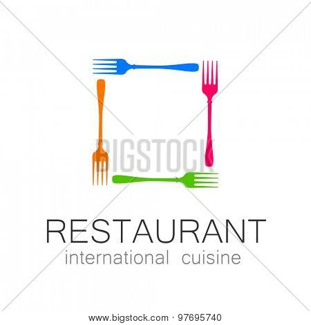 International restaurant - template logo.