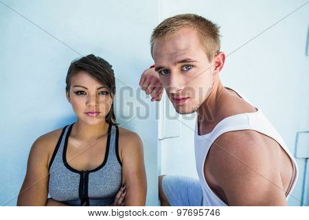 Portrait of a focused couple on a sunny day