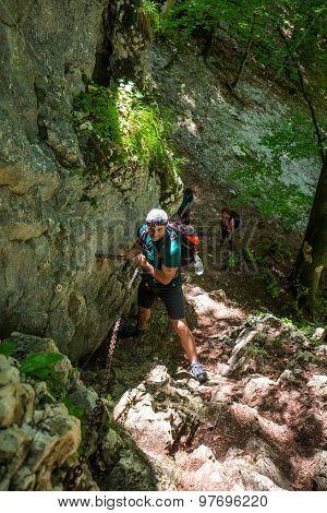 Group Of People Mountaineering