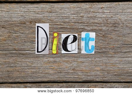 The Word Diet In Cut Out Magazine Letters