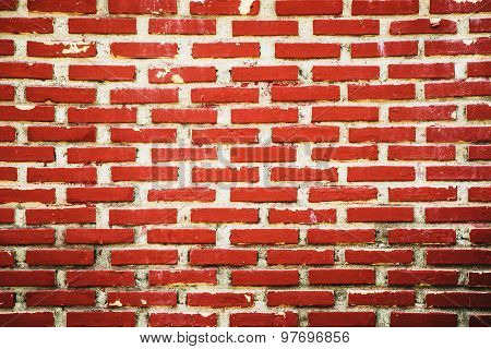 Red Brick Wall Background And Texture