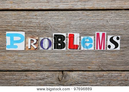 The Word Problems In Cut Out Magazine Letters