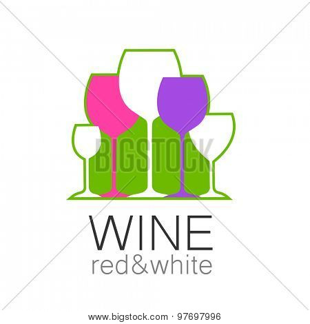 Wine - template logo for the bar, the restaurant, the wine list, the menu, the sommelier.