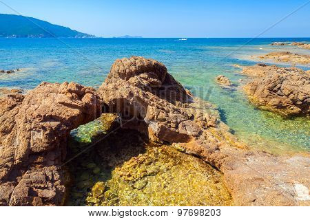 Natural Stone Grotto On The Mediterranean Coast