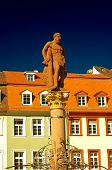 picture of samson  - A view of Hercules statue at Marktplatz Heidelberg - JPG