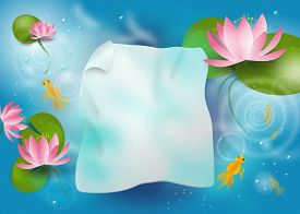 picture of bubble sheet  - Illustration of background paper sheet under water in lagoon - JPG