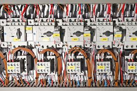 foto of electric station  - Electrical panel with automation for process control - JPG