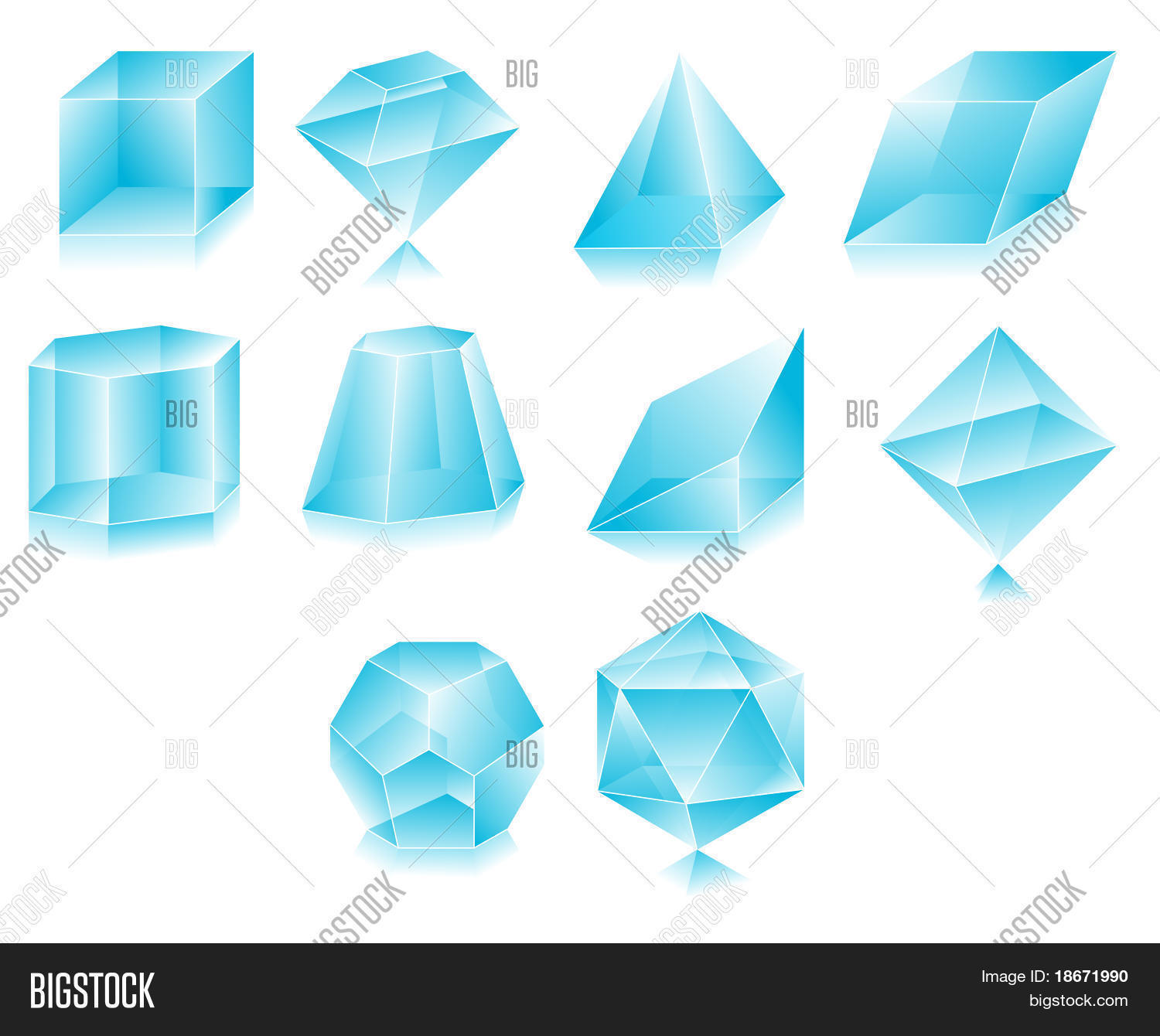 Blank Translucent 3d Shapes Design Vector Photo Bigstock