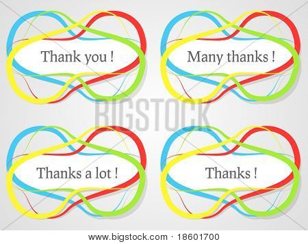 Abstract colorful stickers with