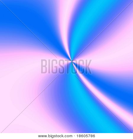 Blue-pink fantasy hyperspace