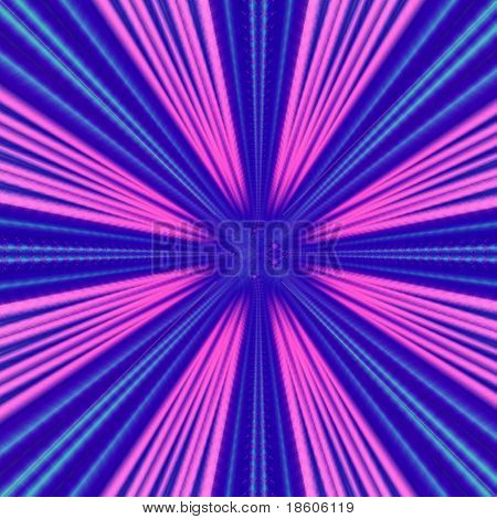 Fantasy pink-blue hyperspace