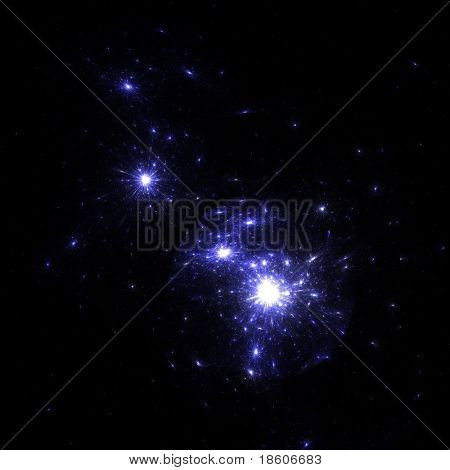 Fantasy starfield background (nebula)