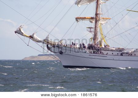 Sailing Ship Leaving Port