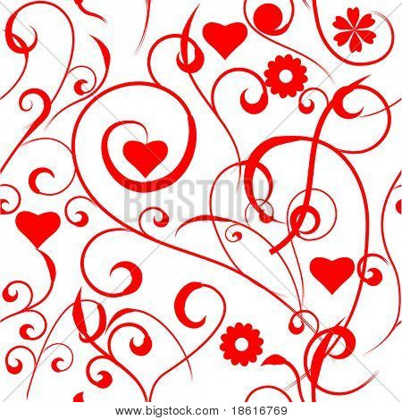 Seamless floral valentine background