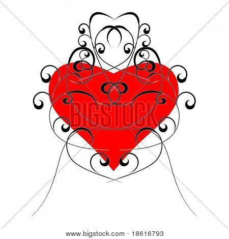 Diseño floral de San Valentín