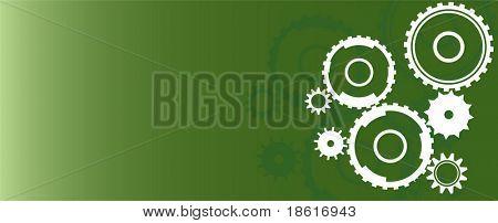 Green wheel industrial background